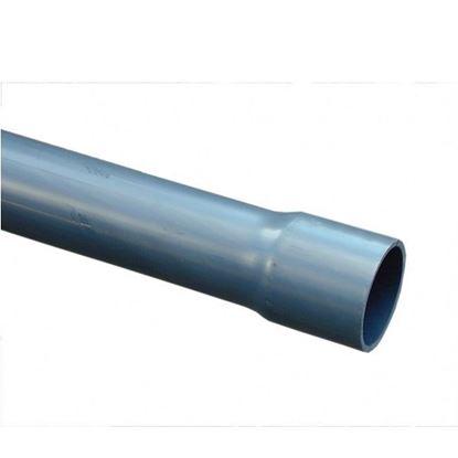 Picture of Tubo de presión de PVC-U 50 x 2,0 mm,  gris oscuro, PN7,5,  Longitud = 5 mtr.