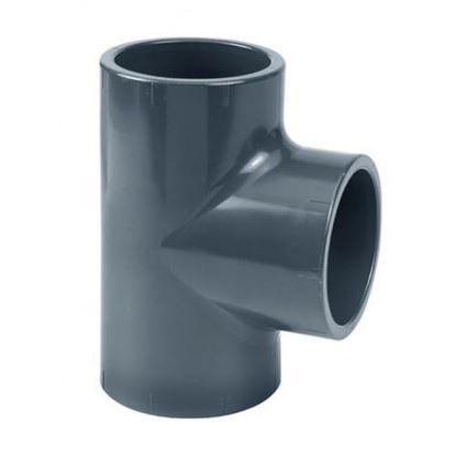 Picture of PVC-U pieza T 90° 50 X 32 X 50 MM PN10