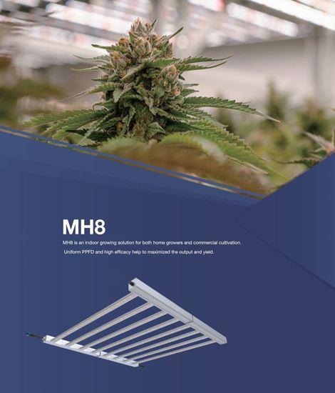 Imagen de Iluminacion de led MH8 osram 660w 8 barras FSG 2,5 umol/j  4000K para cultivar